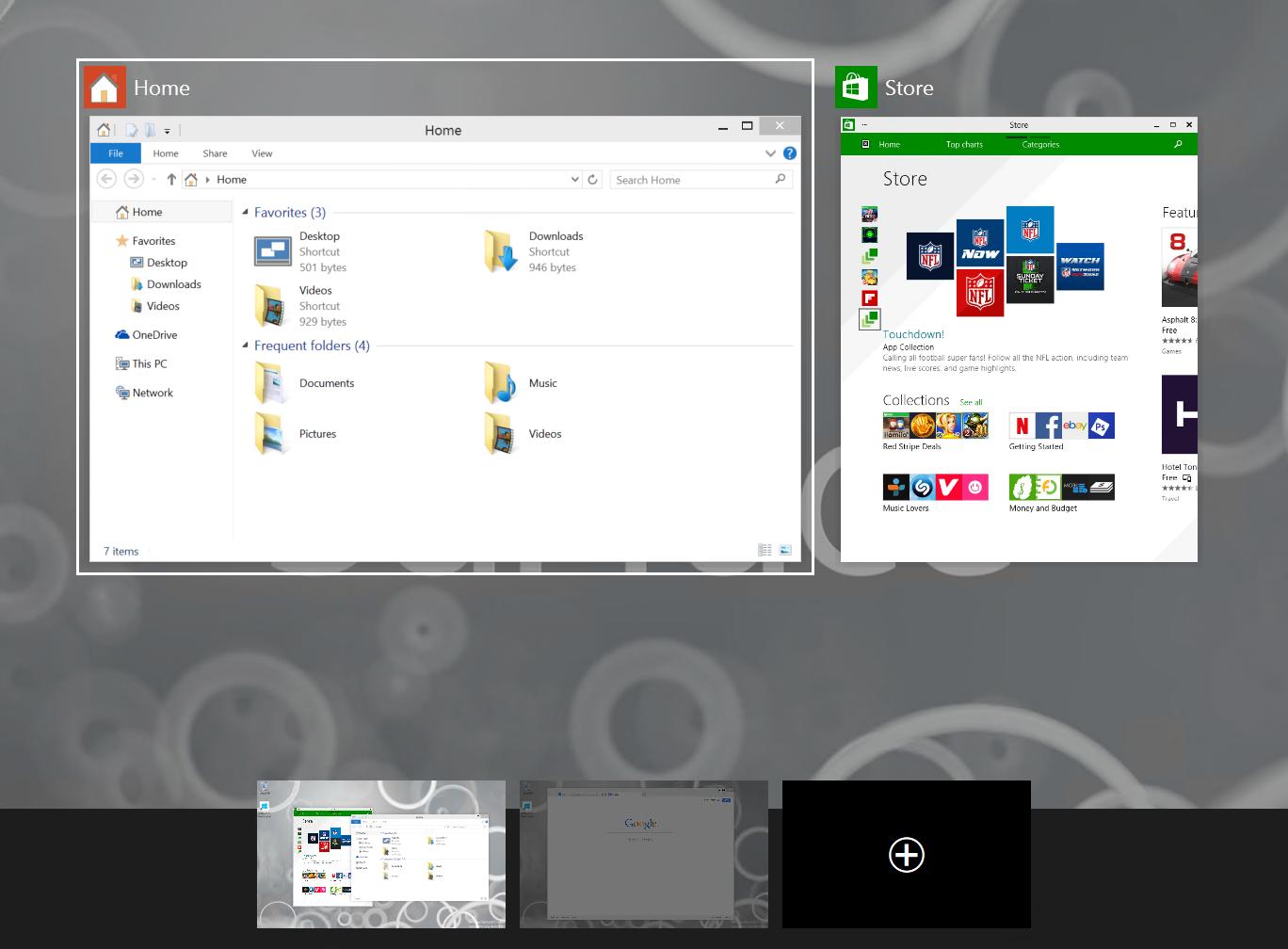 Screenshot of Task View